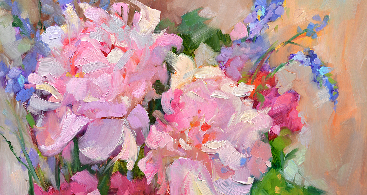 Paris Peonies and Lavender ©2020DreamaTollePerry https://dreamatolleperry.com/